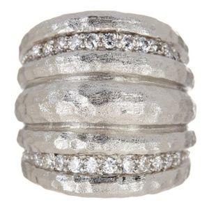 RIVKA FRIEDMAN White Rhodium Cubic Zirconia Ring